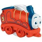 Fisher Price Mattel Chrastící mašinka červená
