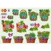 3D Výřezy Květinové košíky (veselé obrázky 3D - vytvořte si své vrstvené obrázky)