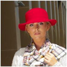 047c5205fbd Karpet Dámský vlněný klobouk střední krempa ořezaný s prošitím hnědá 153670