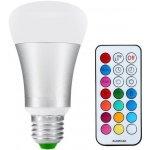 T-LED LED žárovka RGBW 10W E27 330° RGB + Teplá bílá