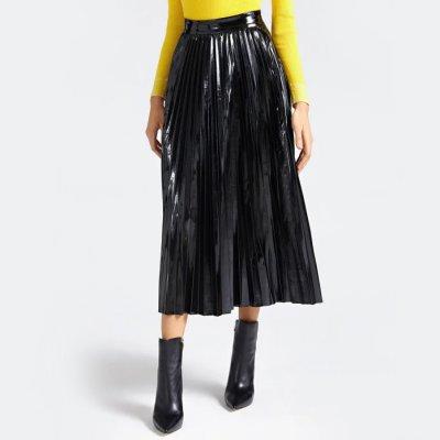 Guess skládaná sukně černá