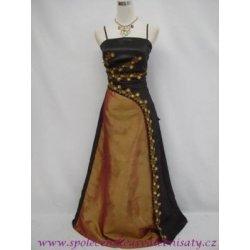2df256f3e6f Černé zlaté dlouhé plesové společenské svatební šaty na svatbu č. 2024