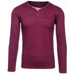 36b9b197cba Bolf 5965 Vínové pánské tričko s dlouhým rukávem bez potisku ...