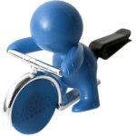 Mr&Mrs Fragrance Gino Caribbean Sea modrý panáček s žetonem
