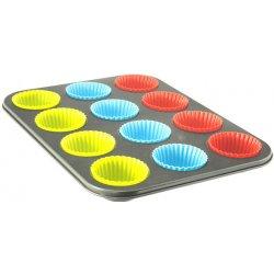 Fortel Forma na muffiny se silikonovými košíčky 36 x 27 x 3 cm 12 ks