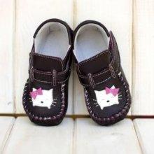 Barefoot dětské boty ZEAZOO mokasíny FIALOVÉ S KOČIČKOU b1518b1c5b