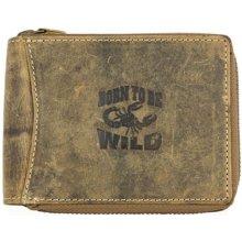 Born to be wild kožená peněženka se škorpionem celá na zip