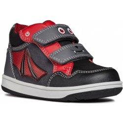 89659785c7d Geox Chlapecké kotníkové boty New Flick - šedo-červené od 890 Kč ...