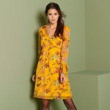 Blancheporte voálové šaty hořčicová 0529e286bb