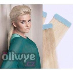 Vlasy pásky tapex tape in remy 50cm 20ks  60 platinová blond od 1 ... d152d95a5c