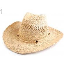 Kovbojský klobouk / slamák 1 režná světlá