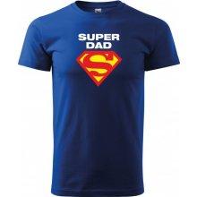 Bezvatriko.cz 0274 Vtipné tričko pro super tatínky Super Dad Modrá f754e2d391