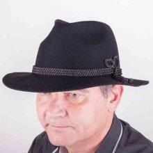 Černý pánský elegantní klobouk Tonak 85027