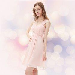 6e688d15bd0b Krátké společenské šaty na svatbu koktejlky světle růžová