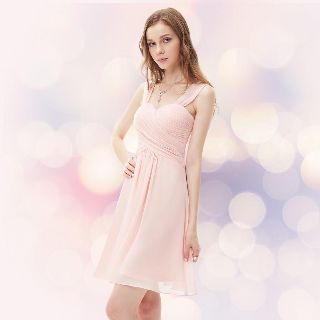 f584fdec2915 Krátké společenské šaty na svatbu koktejlky světle růžová od 1 600 Kč -  Heureka.cz