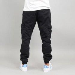Pánské džíny Urban Classics Deep Crotch Leather Imitation Pants černé 8285bf253e