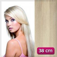 Clip in vlasy 38 cm - platinová blond #60