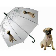 Průhledný deštník Mops