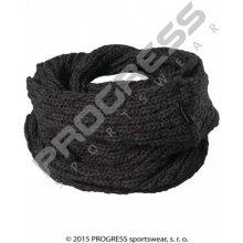 Progress šála LINA pletená černá