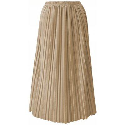 Fashionweek maxi skládaná plisovaná sukně BRAND14 béžový
