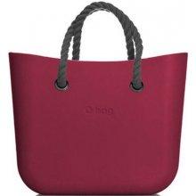 O bag kabelka MINI Sangria s šedými krátkými provazy 3a0aed3e8df