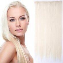 Clip in vlasy - 60 cm dlouhý pás vlasů - 60/613 světlý mix blond