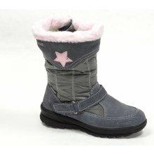 Santé OR IC34211 GRIGIO dětská zimní obuv šedorůžová 080c97482c