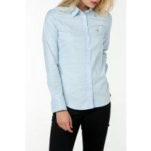 Gant dámská Košile GANT STRETCH SOLID OXFORD SLIM SHIRT modrá