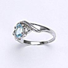57d1548e1 Čištín Stříbrný prsten s přírodním topazem swiss prsten T 1163