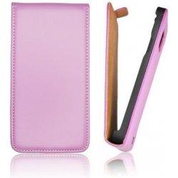 Pouzdro na mobilní telefon Pouzdro Forcell Flip Slim Samsung i8190 S3 Mini fialové
