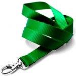 Idsys Šňůrka na krk pevná textilie - zelená