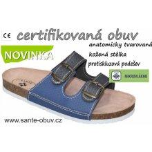 abb5aad8d90 Santé D 21T 910 925 BP dámský zdravotní pantofel šedo-modrá