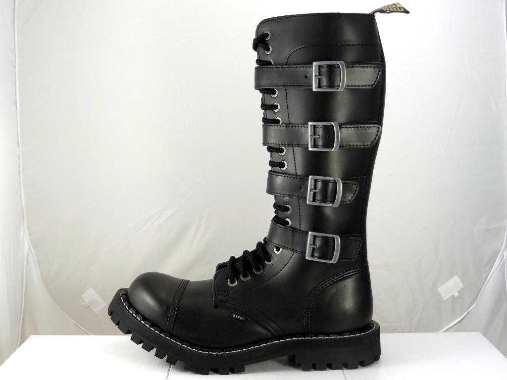 5345d30ca19 Steel boty 20 dírkové černé - šněrovací se zipem a přezkami alternativy -  Heureka.cz