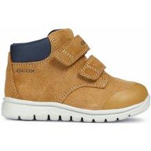 Geox Chlapecké kotníkové boty Xunday - hnědé f1f792a8be