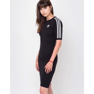 Adidas Originals šaty 3 Stripes black
