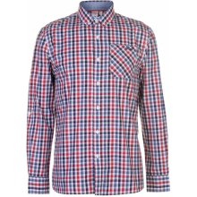 Lee Cooper Long Sleeve Check Shirt Mens Red/Blu/Nvy/Wht