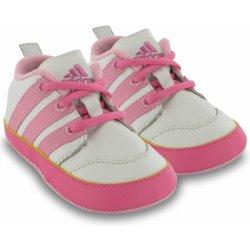 adidas Neo Jog Crib Shoes baby girls white pink kojenecké boty ... 8ccc6e483b8