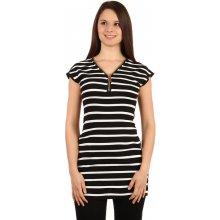 TopMode moderní pruhované tričko šaty černá 0327c3ea78