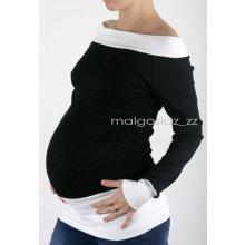 těhotenské tričko tunika černá + bílá