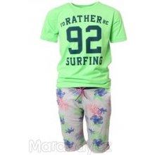 Mayoral SET tričko + kraťasy 'Surfing' NEON zelená