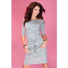 Numoco sportovní šaty s textem 13-10 šedá 1fa96aaf70
