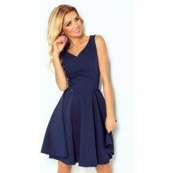 4f3c5dc19f5d Numoco dámské elegantní společenské a plesové šaty 114-7 tmavě modrá ...