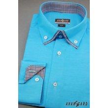 Avantgard pánská Košile Slim dlouhý rukáv tyrkysová 120-2501 7460cdbab6