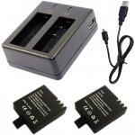 Nabíječka + 2 baterie pro akční kamery GitUp™