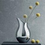 Georg Jensen Váza z leštěného nerezu Precious, malá, nerez 885