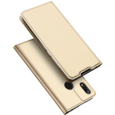 Pouzdro DUX DUCIS Skin Pro s klapkou Huawei Y6 2019 / Honor 8A Pro zlaté