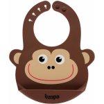 Zopa silikonový bryndák Monkey