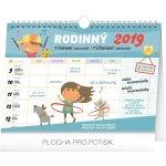 Týdenní rodinný plánovací kalendář s háčkem 2019