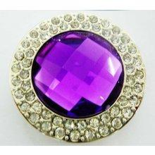 Háček na kabelku Luxury fialový