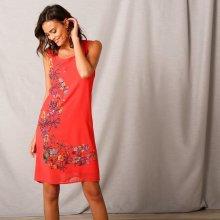e480b14d3 Blancheporte voálové šaty s potiskem korálová